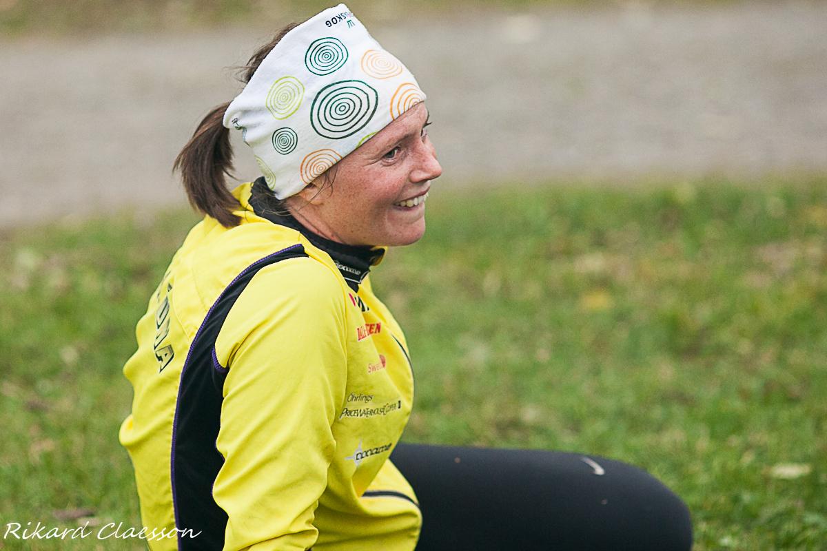 Susanna Mårtensson kämpade väl på de 3 varven.