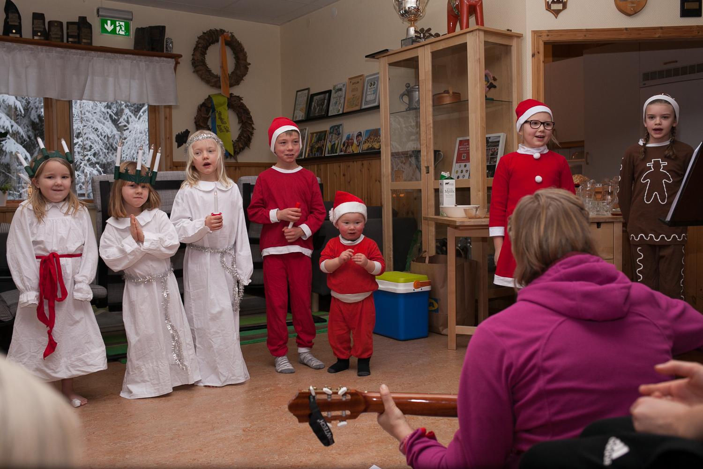Från vänster: Line, Alva, Nora, Hugo, Ivar, Hennie & Maja.