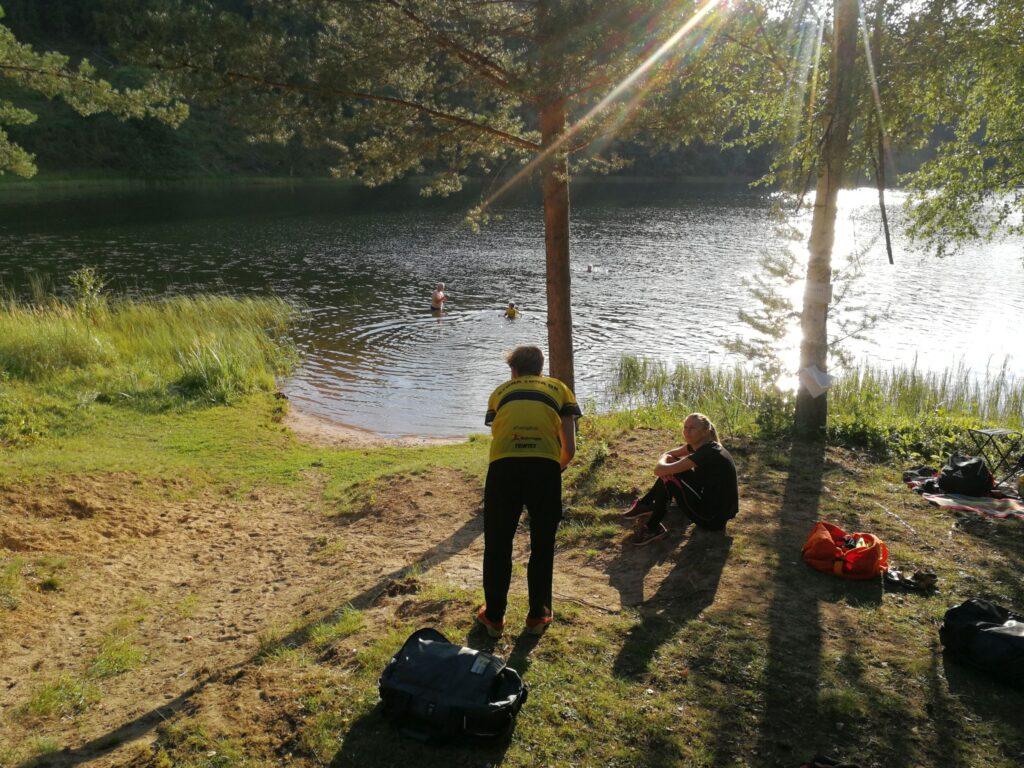 Badmöjlighet vid sjön Hemtjärn.